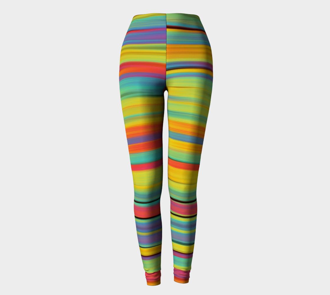 Rainbow Stripes Leggings preview #2