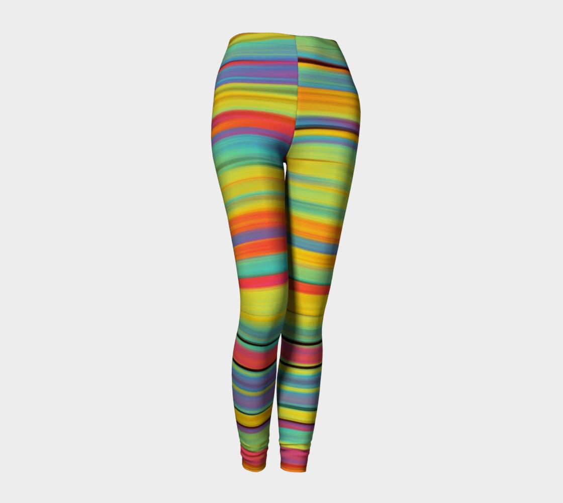 Rainbow Stripes Leggings preview #1