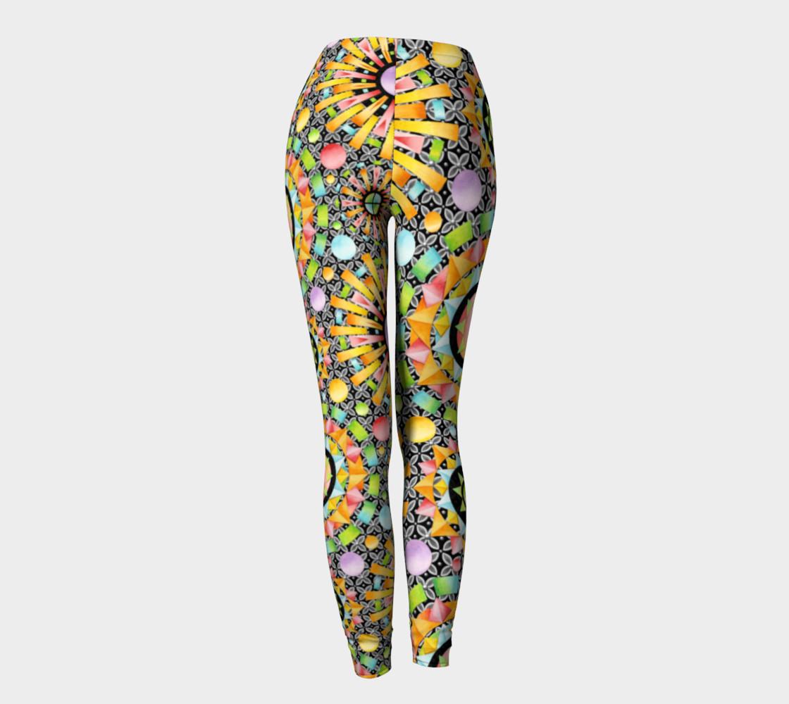 Aperçu de Aurora Geometric asymmetric leggings #4