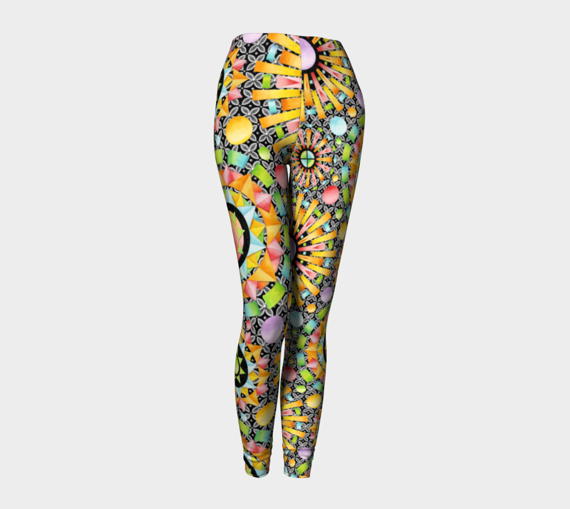 Aperçu de Aurora Geometric asymmetric leggings #1