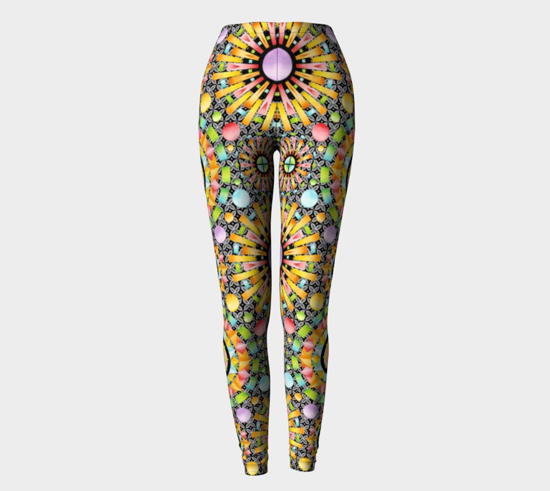 Aperçu de Aurora Geometric symmetrical ankle leggings #2