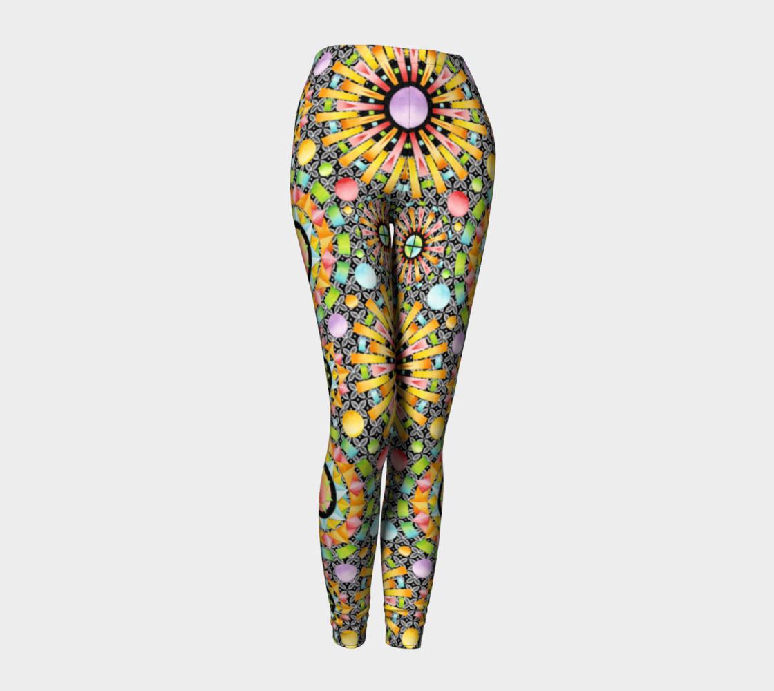 Aperçu de Aurora Geometric symmetrical ankle leggings #1