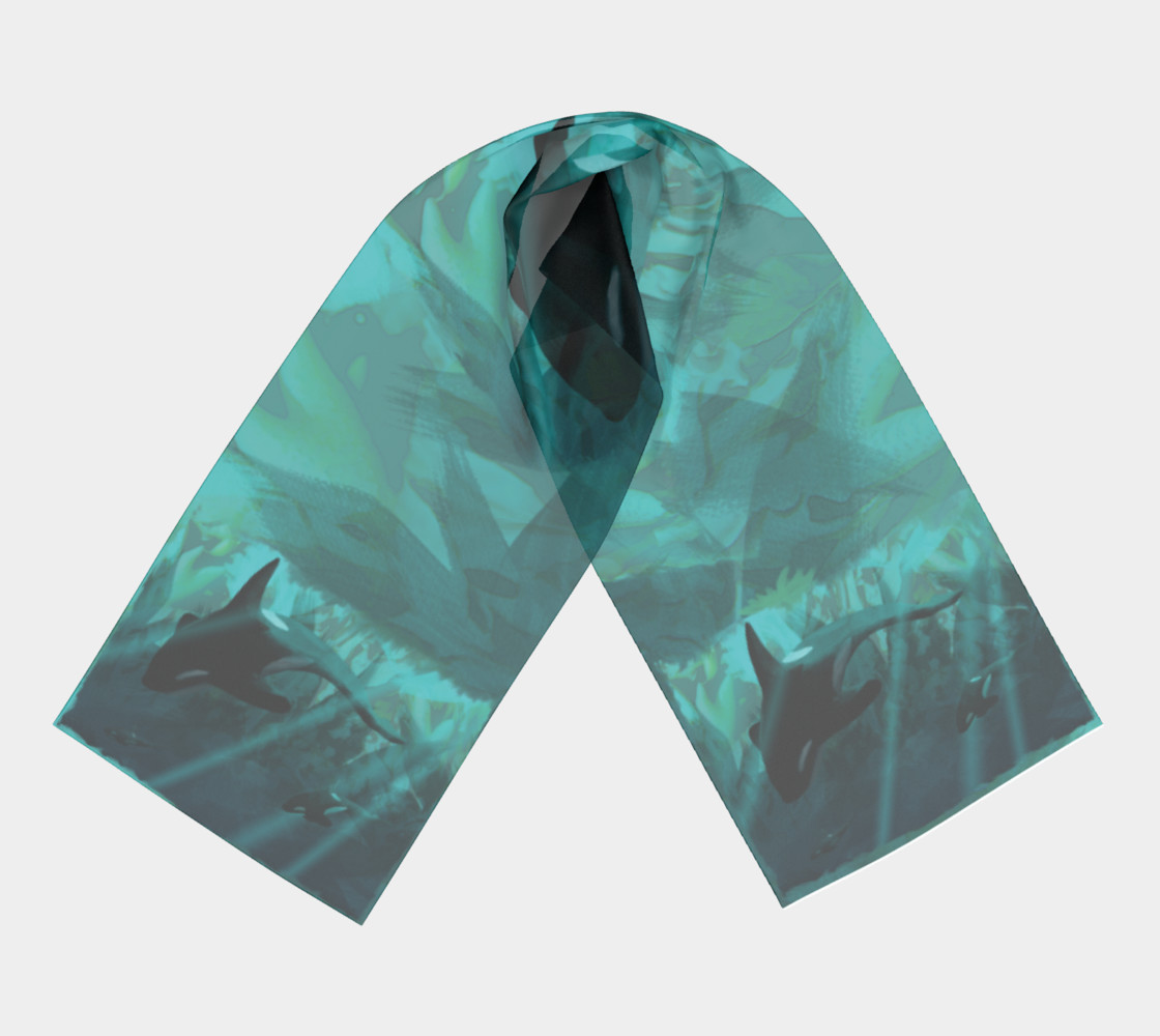 Diving The Depths Orcas Scarf preview #3