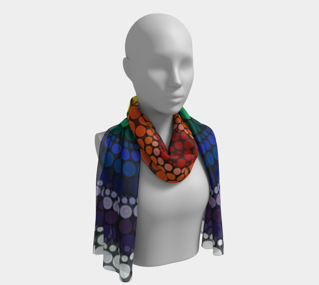 Rainbow Long Scarf preview #1