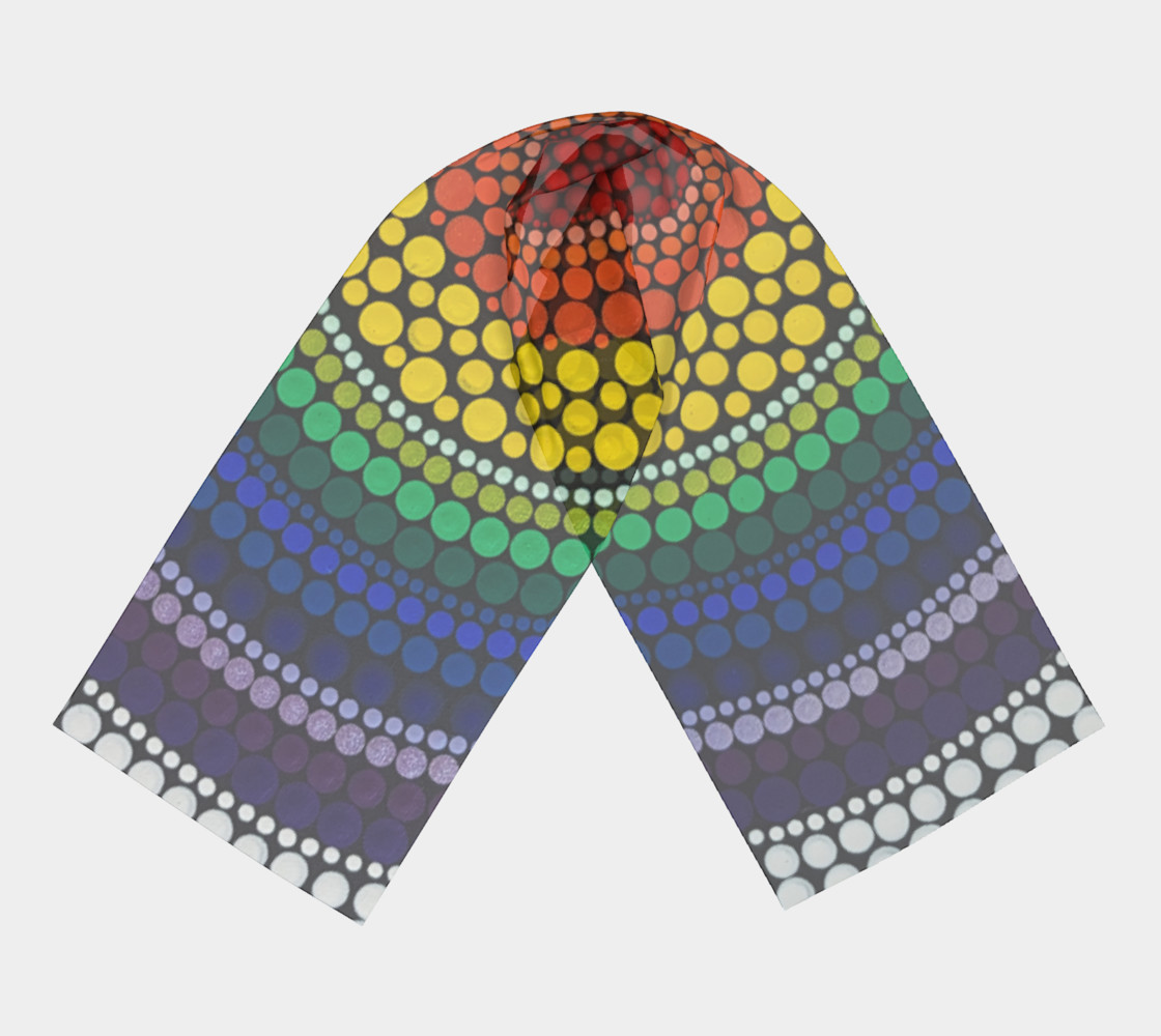 Rainbow Long Scarf preview #3