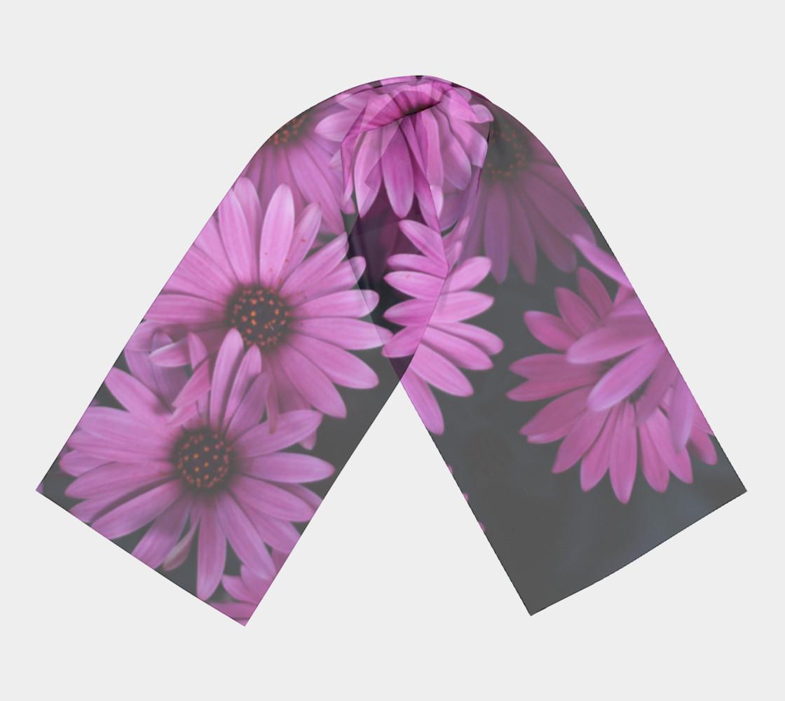 Pericallis Purple Flower Long Scarf preview #3