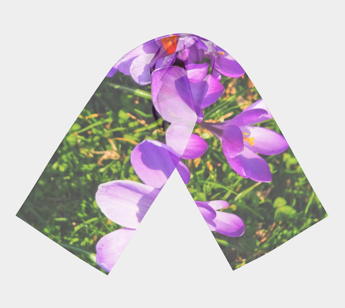 Purple Spring Crocus Long Scarf preview #3
