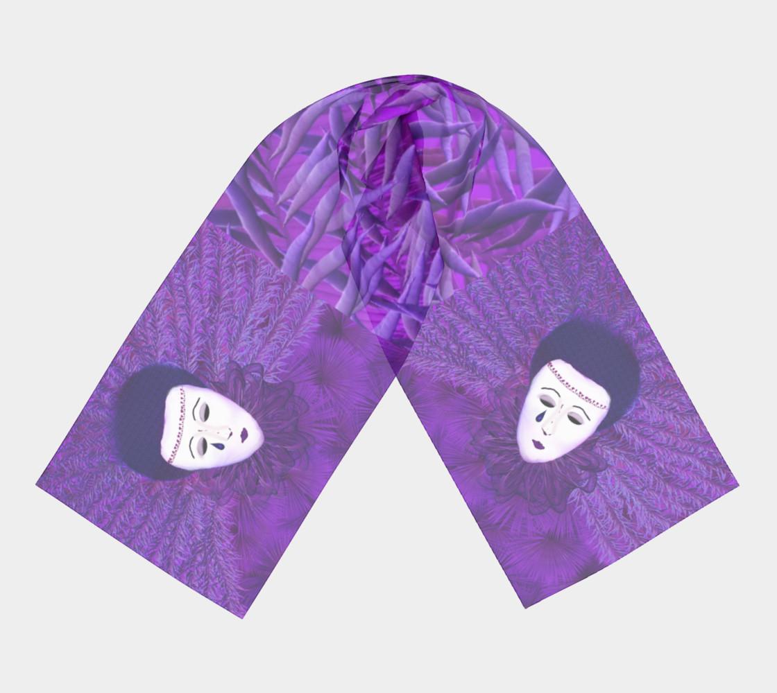 Purple Festival Sad Clown Mask Long Scarf preview #3