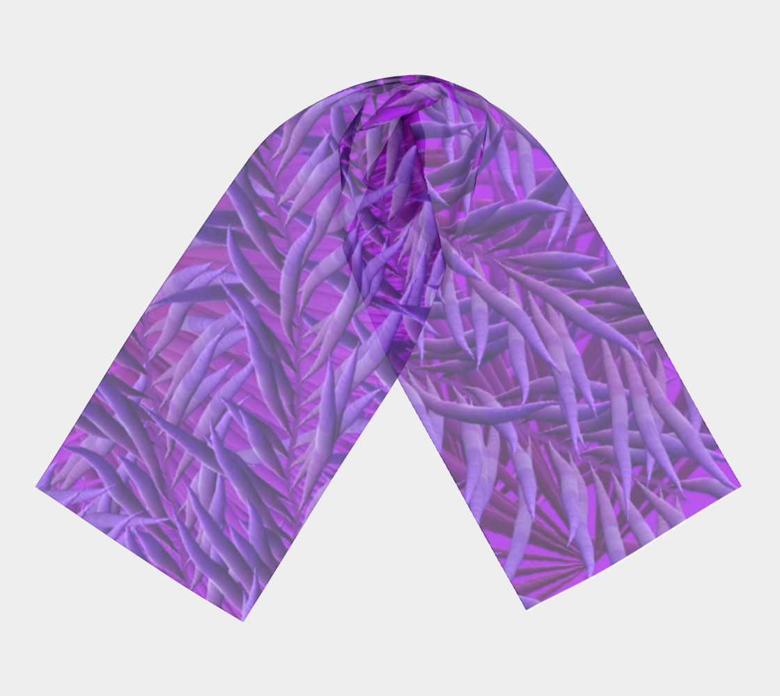 Purple Feathers Long Scarf preview #3