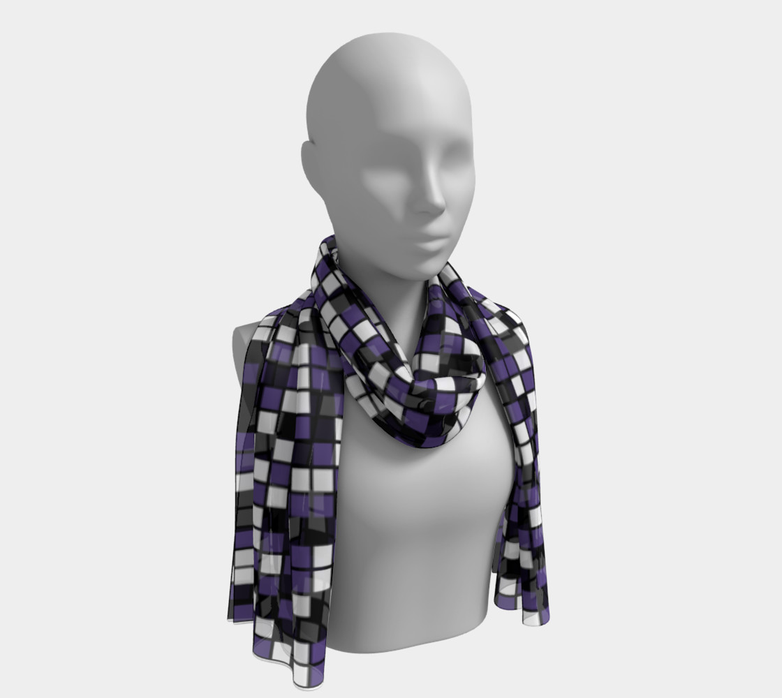 Ultra Violet Purple, Black, and White Random Mosaic Squares preview #1