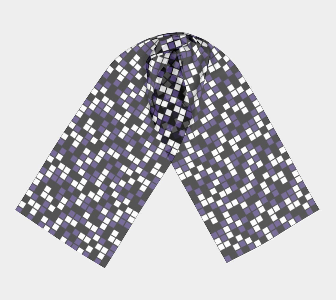 Ultra Violet Purple, Black, and White Random Mosaic Squares preview #3