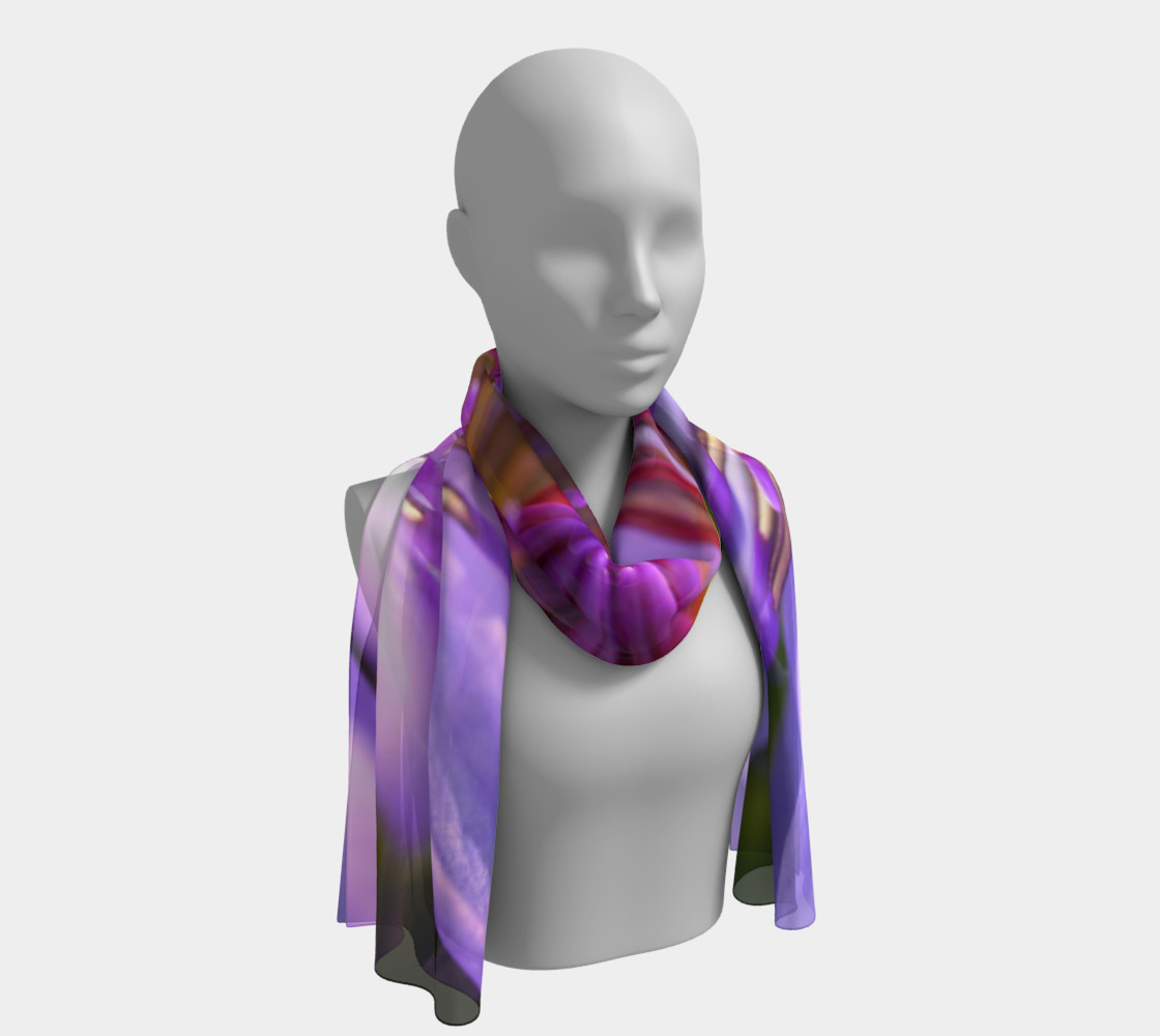 Purple Flower 2 Long Scarf preview #1