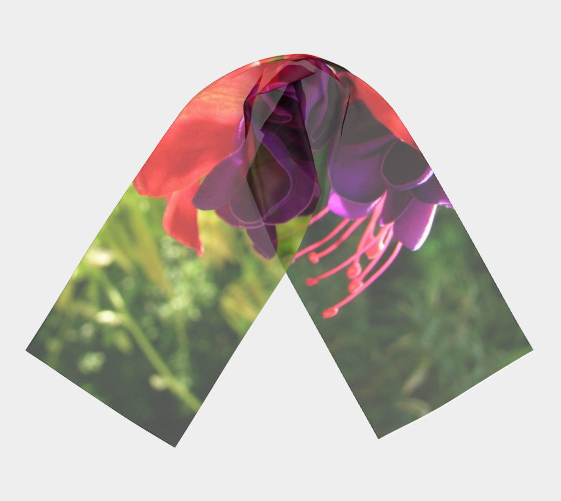Fuchsia Flower Dreams Long Scarf preview #3