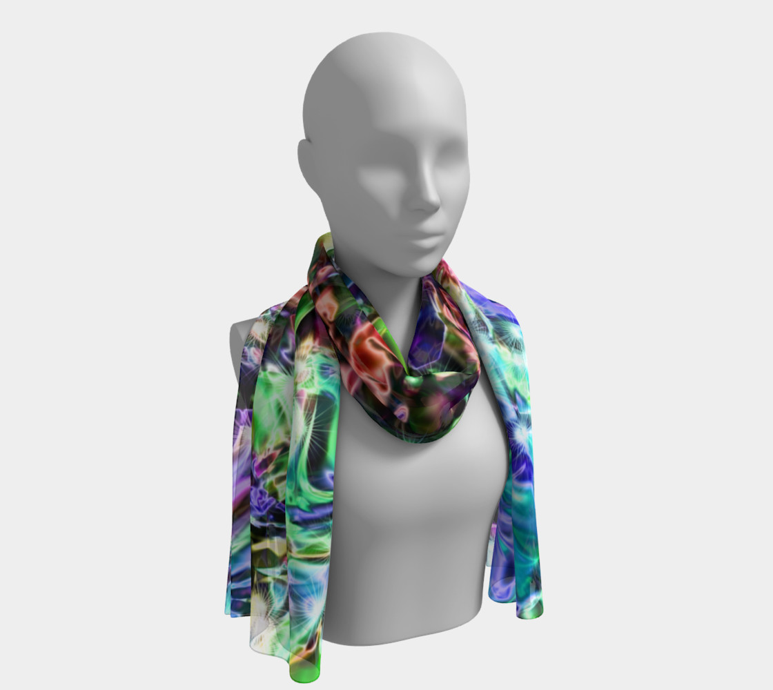 Sparkly rainbow Liquid Metal Long Scarf preview #1