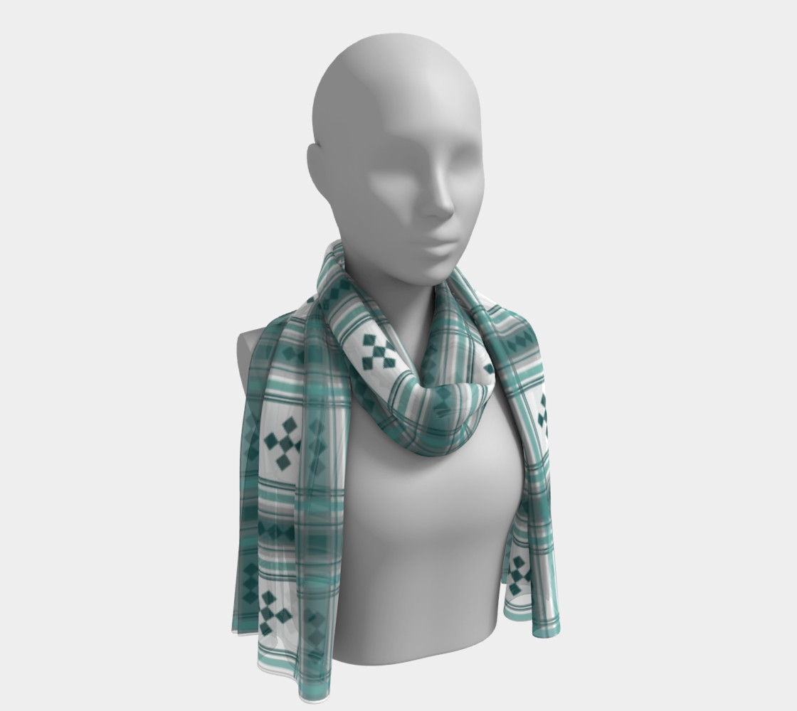 Preppy Plaid in Teal, Gray and White preview #1