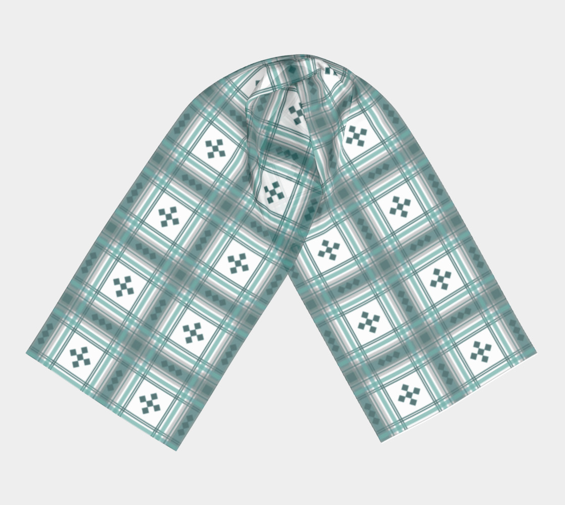 Preppy Plaid in Teal, Gray and White preview #3