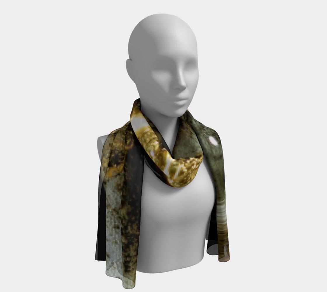 Golden streams long scarf preview #1