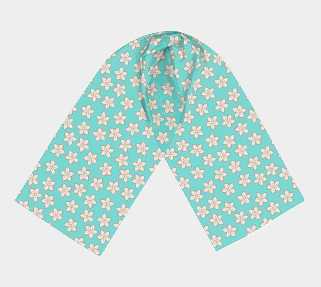 Cream and Turquoise Floral Print preview #3