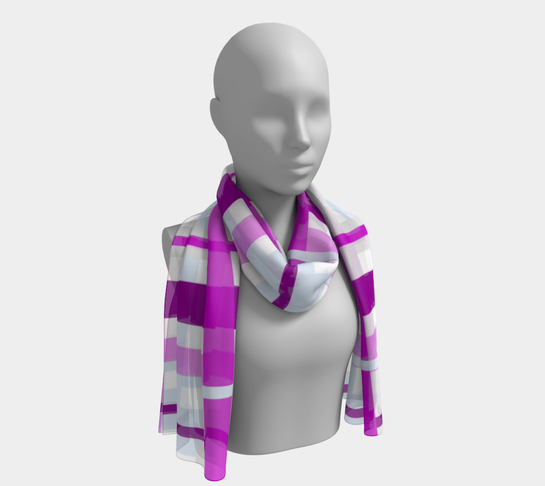 Purple Gingham Long Scarf preview #1