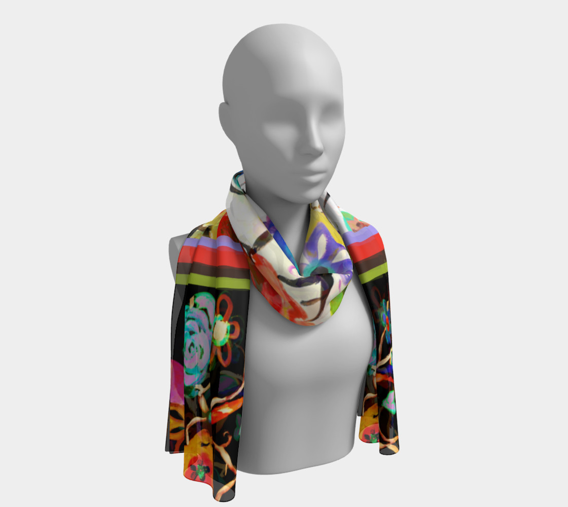 Pretty Floral Day Long Scarf preview #1
