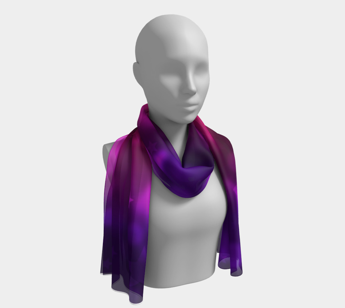 Purple Stars And Bubbles Long Scarf preview #1
