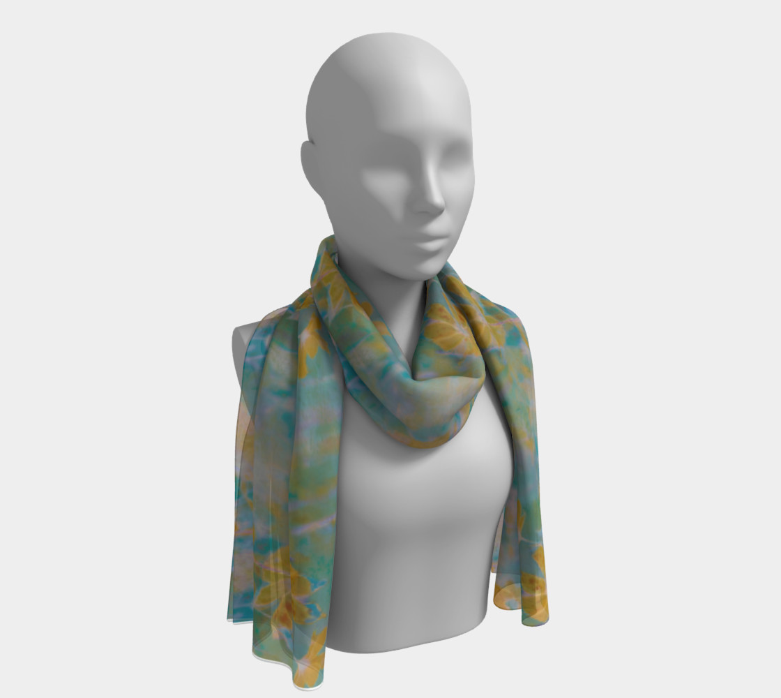 Summer Cosmos Garden (muted) Long Scarf preview #1
