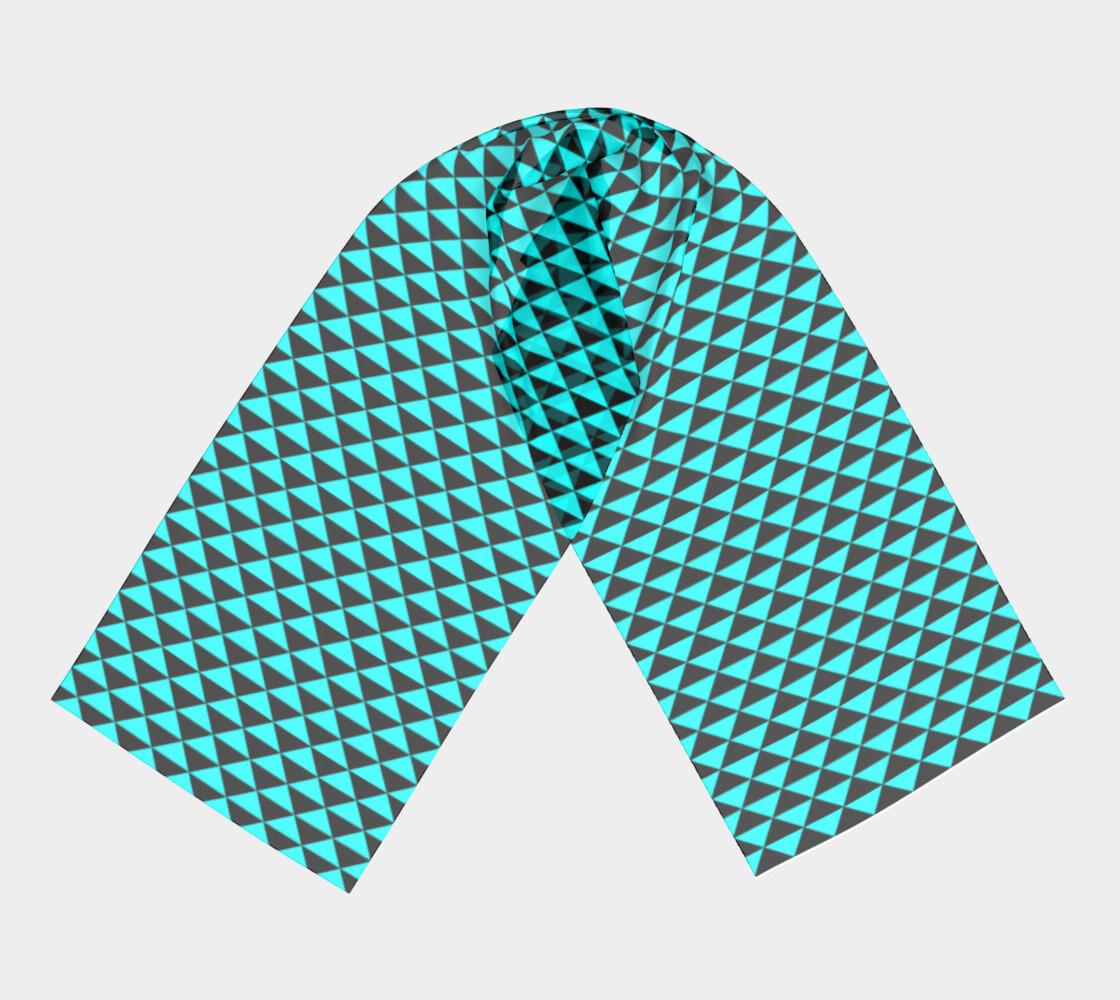 Aperçu de Black and Aqua Blue Triangles #3