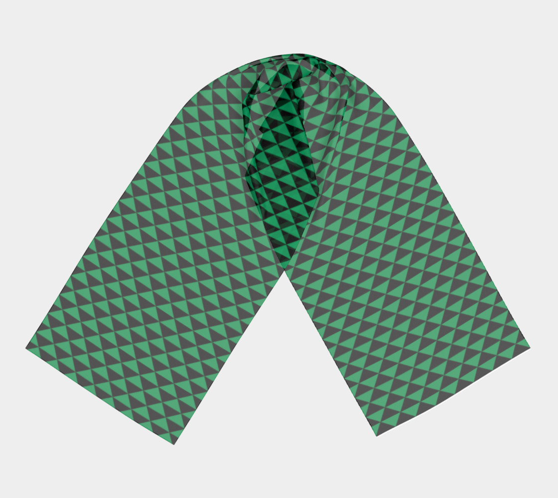 Black and Shamrock Green Triangles preview #3