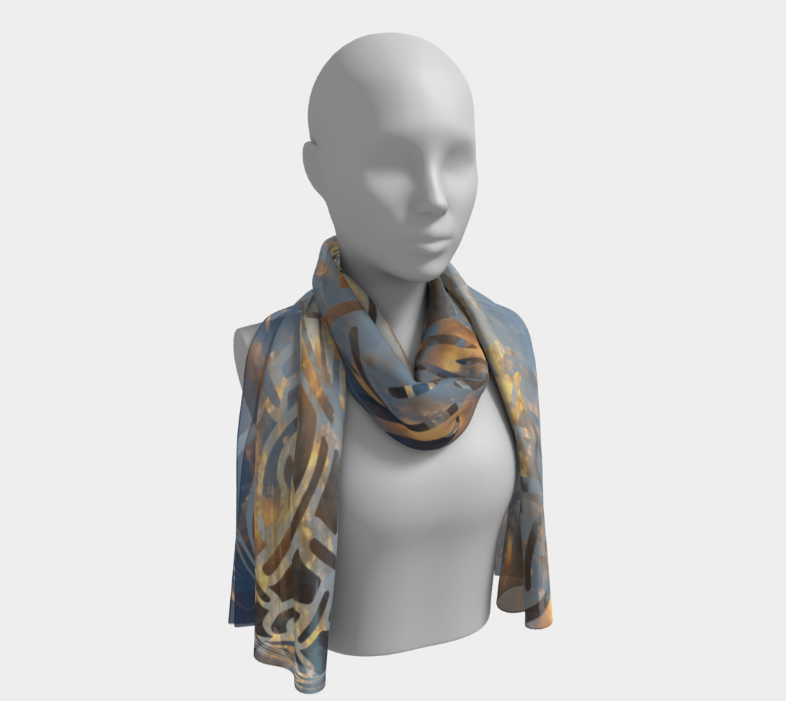 Swirling Celtic Sunset Long Scarf preview #1