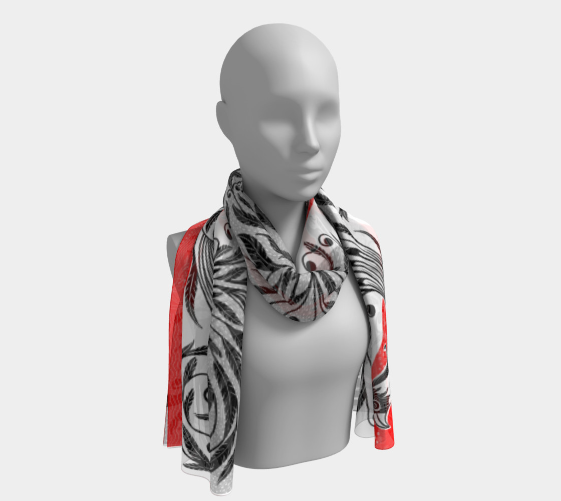 Bird Flora scarf preview #1