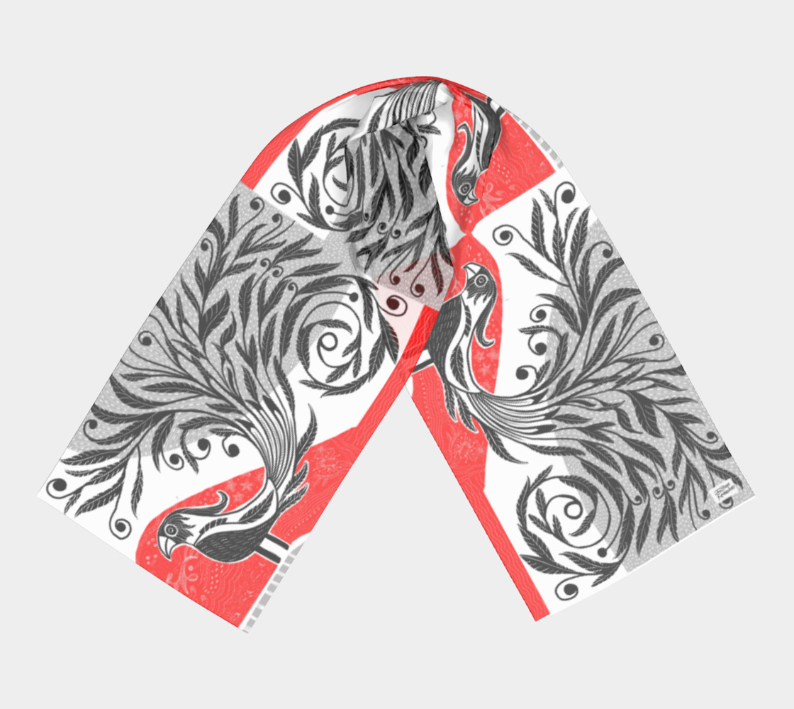 Bird Flora scarf preview #3