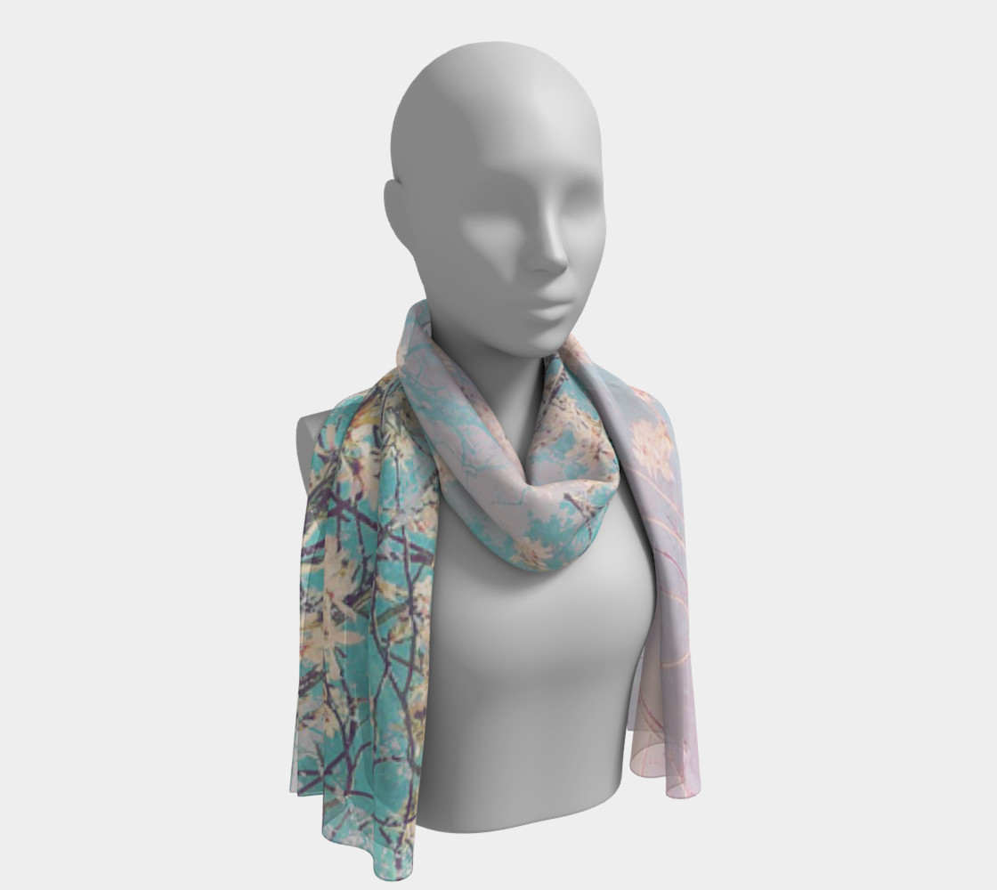 Spring Blossoms Long Scarf preview #1