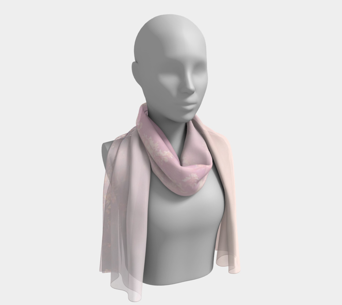 Pink Cloud Long Scarf 3D preview