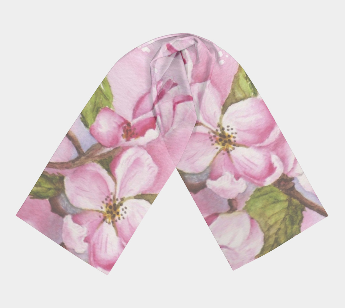 Watercolor Pink Apple Blossoms preview #3