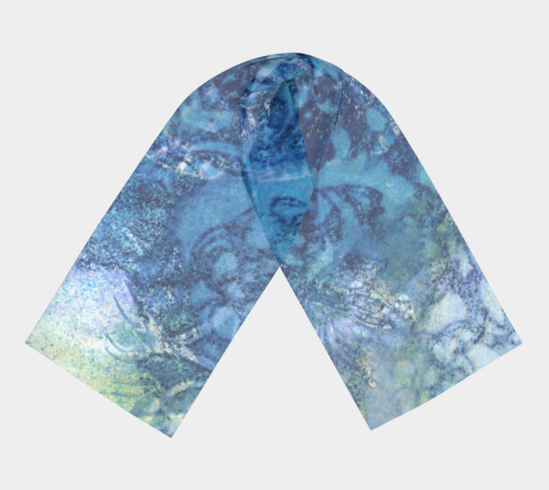 Aperçu de Gathering Blue Long Scarf #3