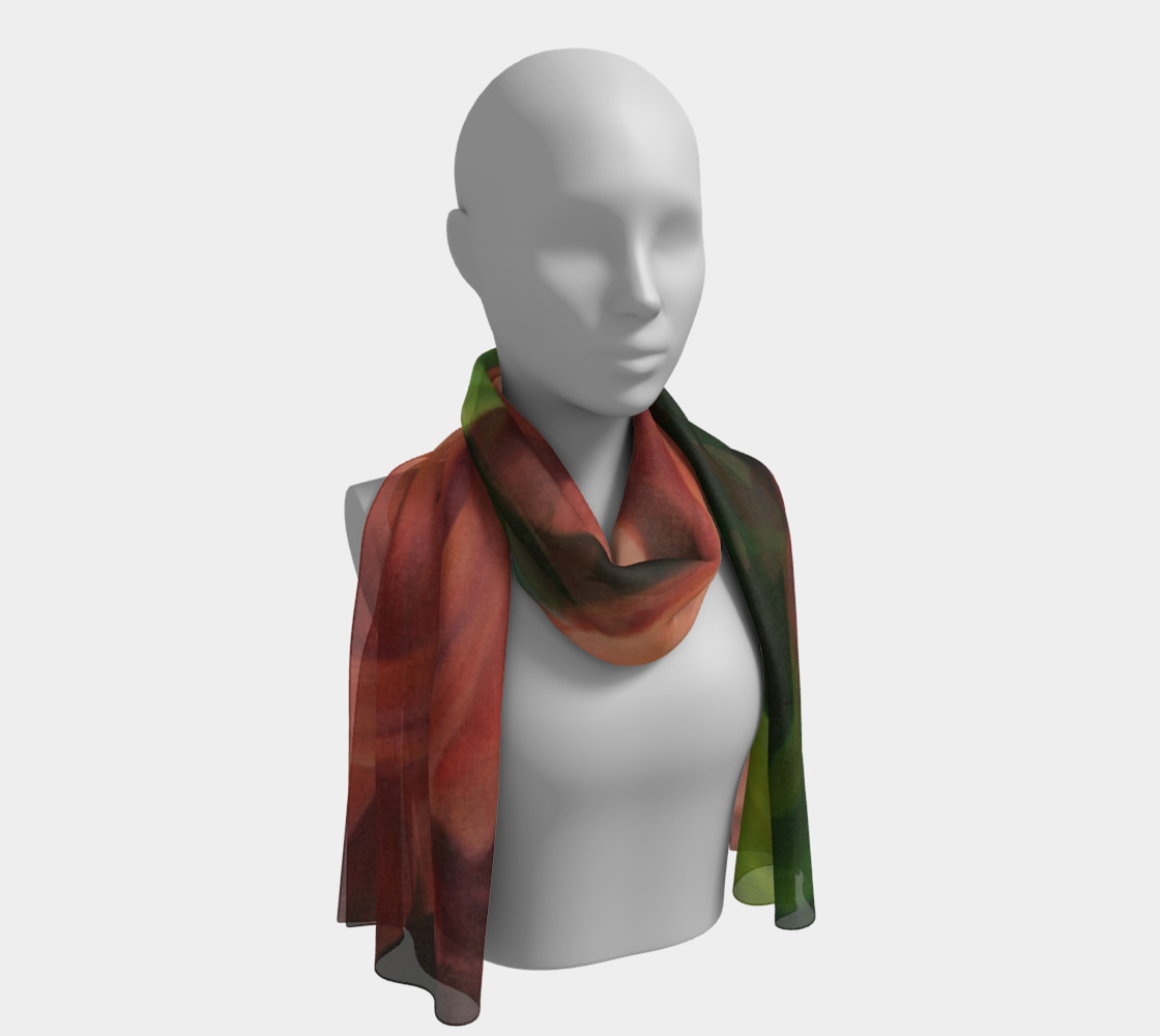 Spring Floral Long Scarf preview #1