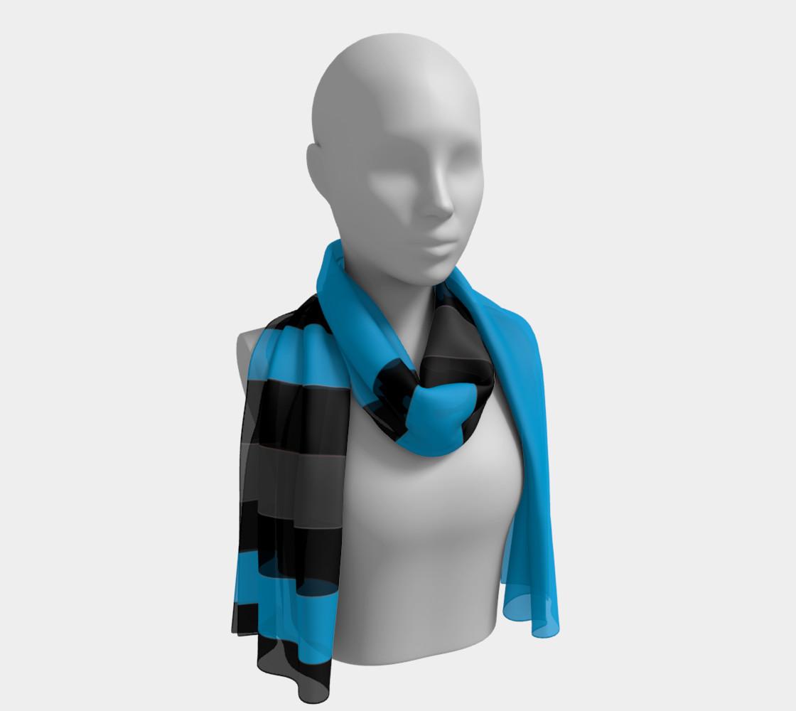 Aperçu de Blue with Black and gray Stripes #1