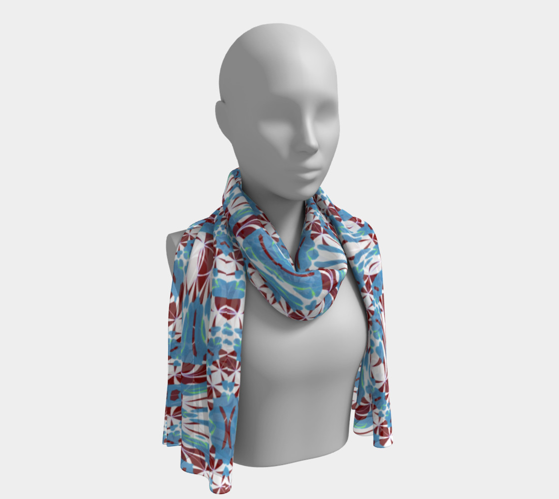 Fashion Art Central / Spiral Print Long Scarf Miniature #2