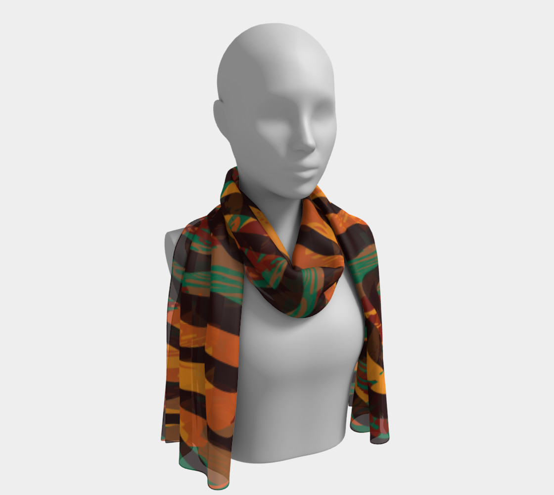 Colorful Animal Stripes Long Scarf preview #1