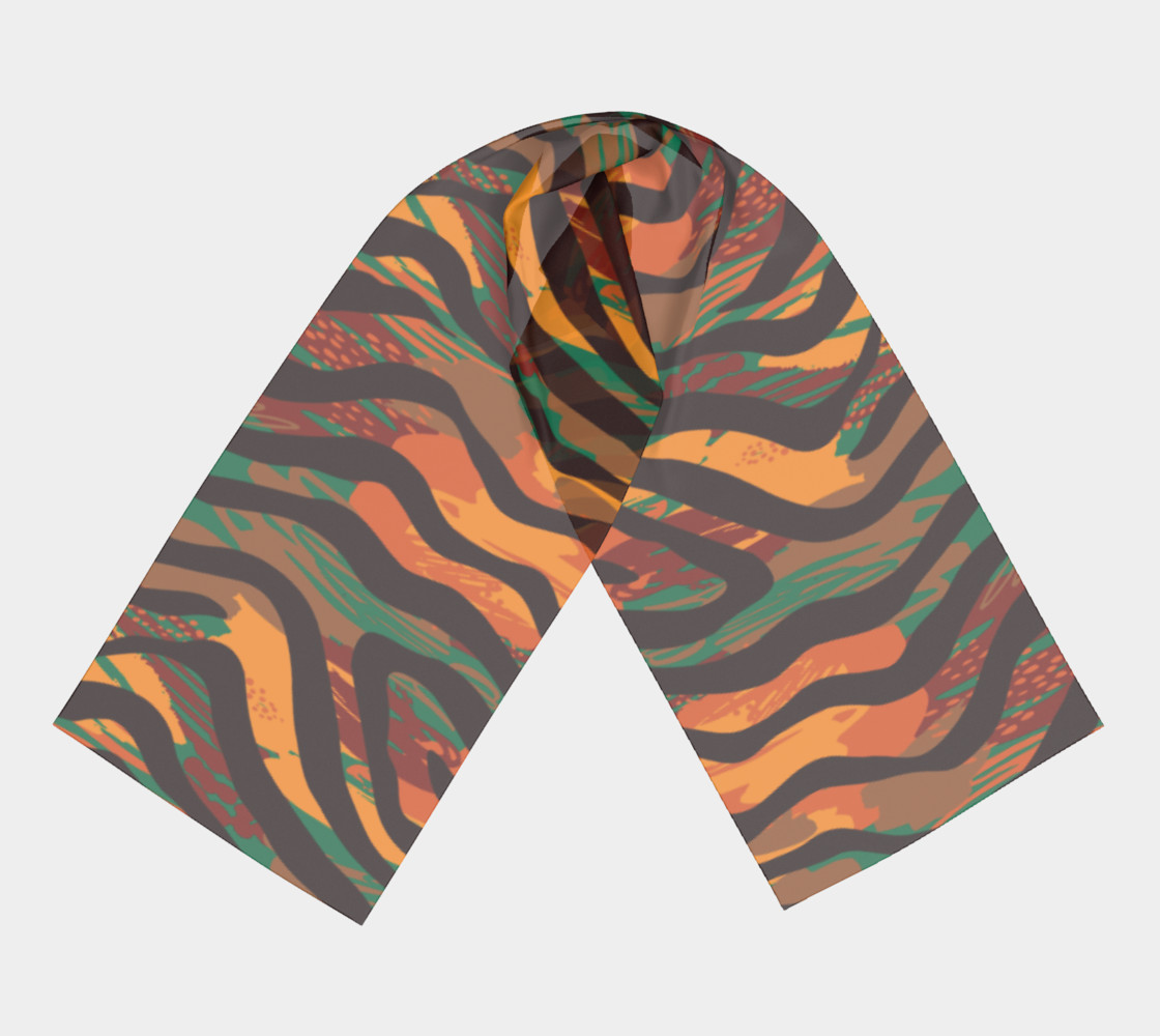 Colorful Animal Stripes Long Scarf preview #3