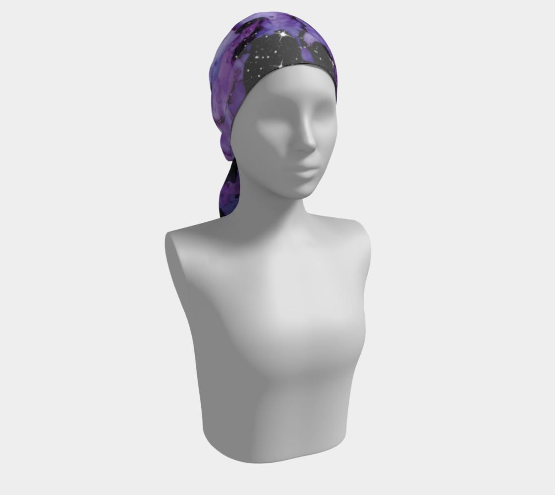 Watercolor Swirls L - Purple & Black, Long Scarf preview #2