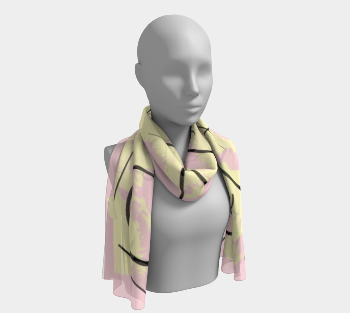 Blush Abstract Scarf preview #1