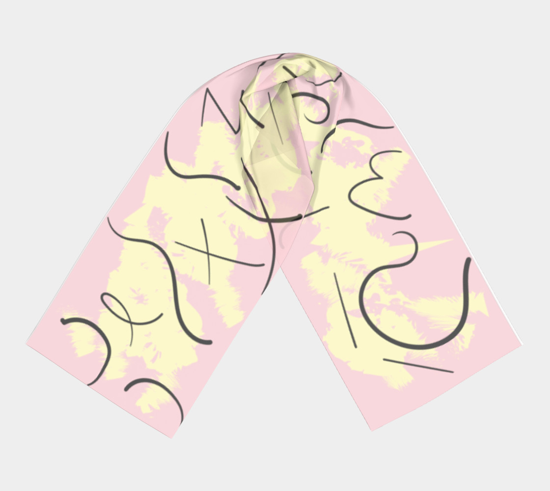 Blush Abstract Scarf preview #3