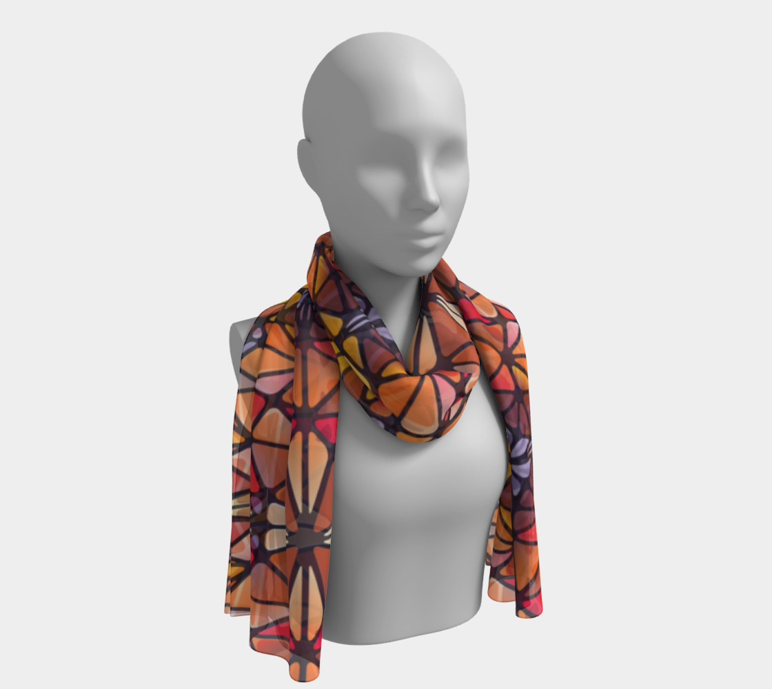 Amber Kaleidoscope Long Scarf preview #1