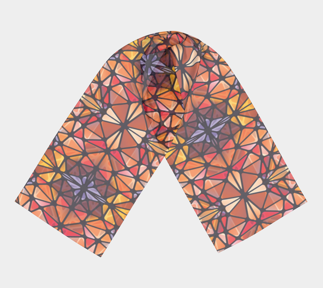 Amber Kaleidoscope Long Scarf preview #3