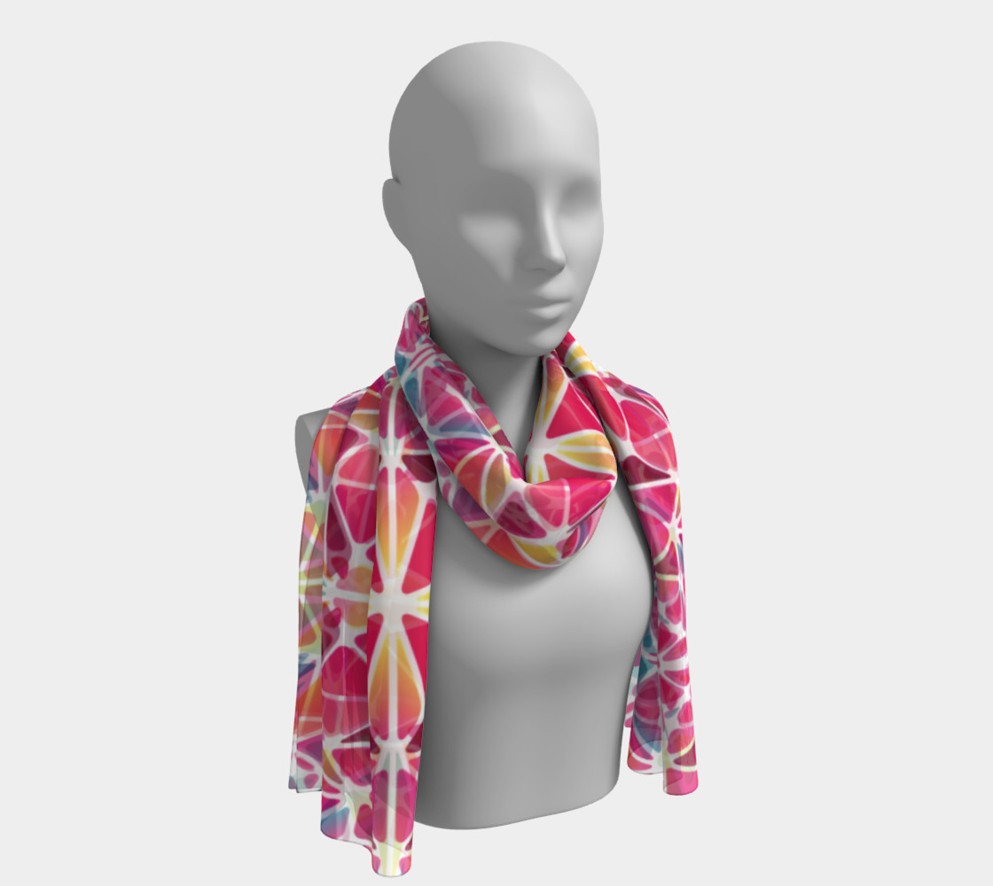 Pink & Blue Kaleidoscope Long Scarf preview #1