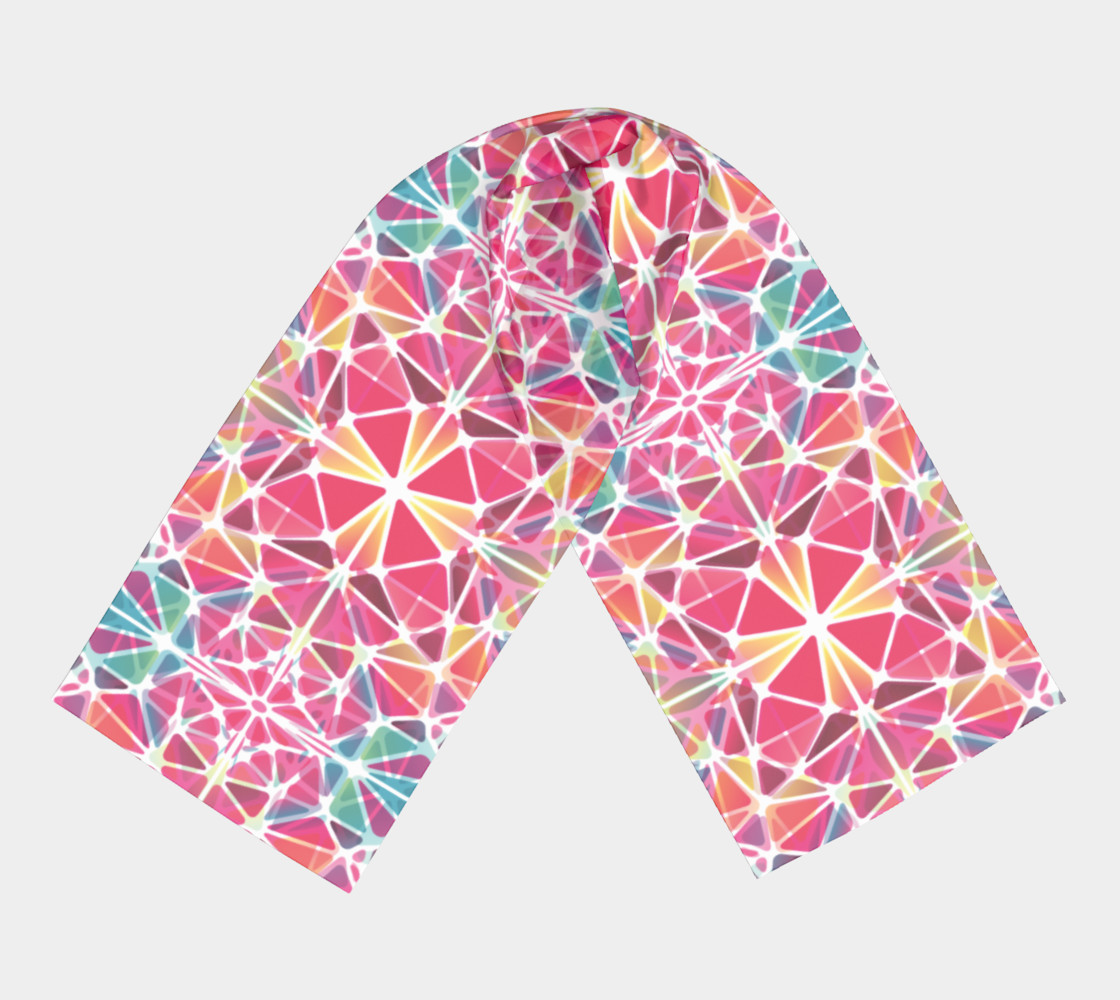 Pink & Blue Kaleidoscope Long Scarf preview #3