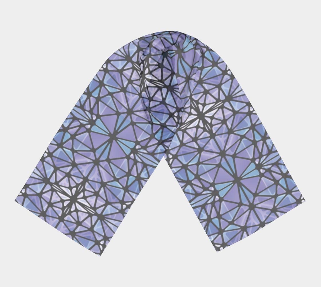 Purple & Blue Kaleidoscope Long Scarf preview #3