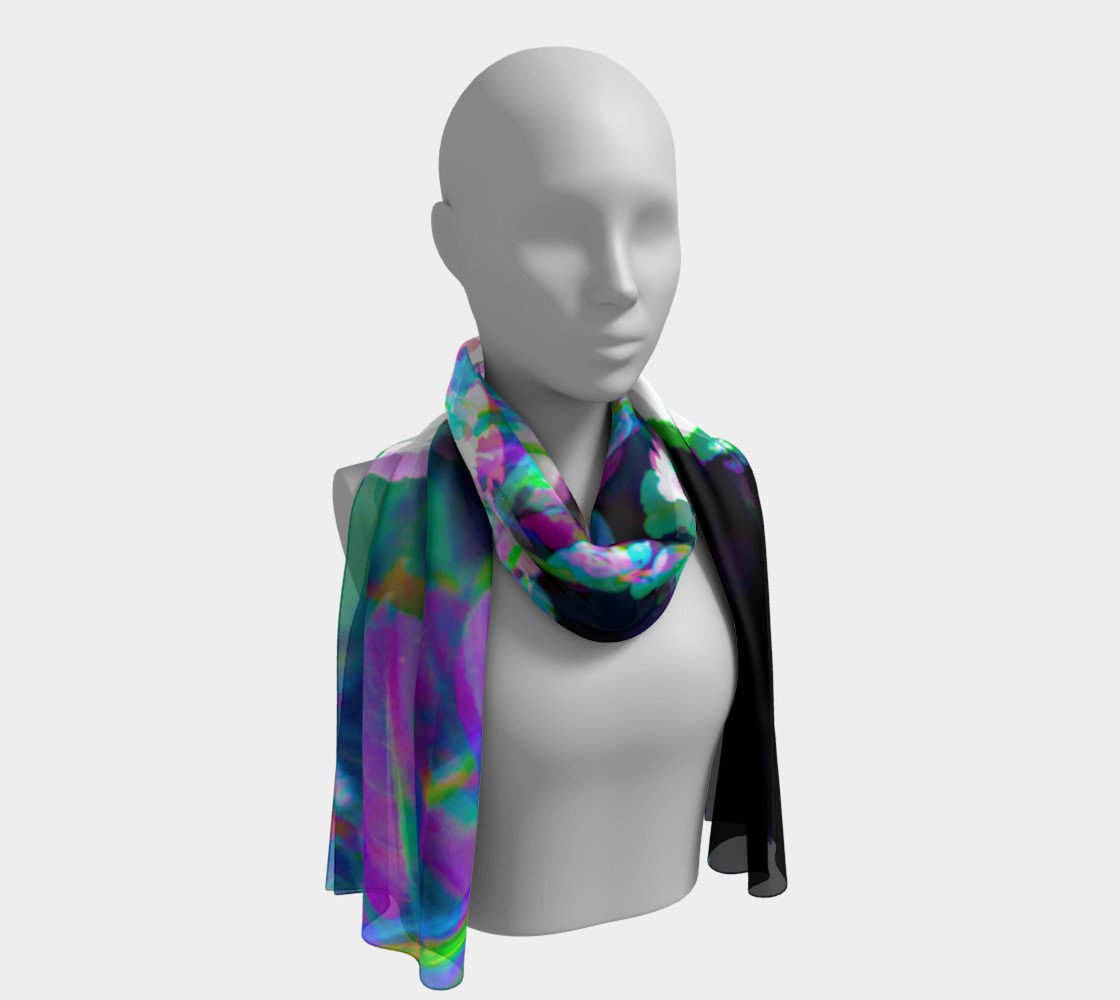 Fluorescent Floral Scarf preview #1