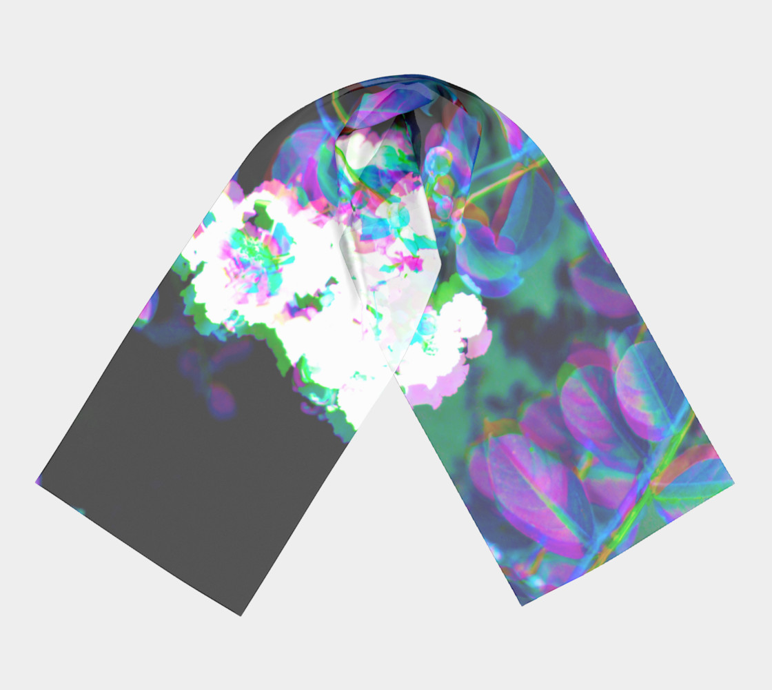 Fluorescent Floral Scarf preview #3